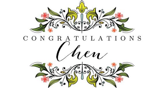 CongratulationsChen