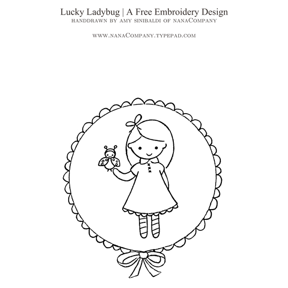 LuckyLadybugEmbroideryPattern