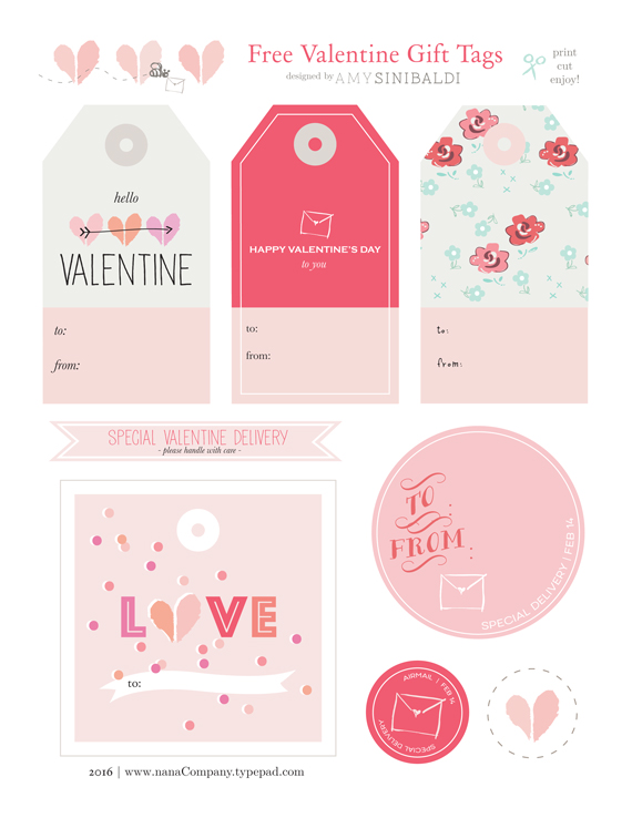 photo about Gift Tags Printable referred to as nanaCompany Valentine Present Tags free of charge printable - nanaCompany