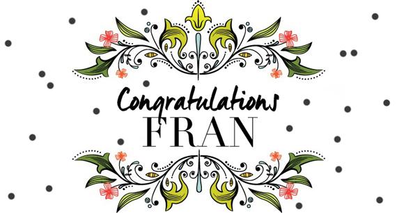 CongratulationsFran