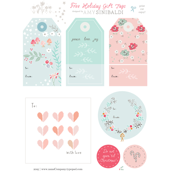 Adaptable image in gift tags printable free